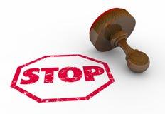 Stop Sign Stamp Warning Royalty Free Stock Photo