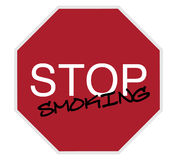 Stop sign - stop smoking Stock Photography