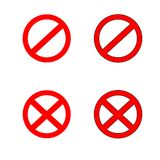 Stop sign symbol set. Warning vector illustration