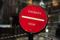 Stop sign for tourist Royalty Free Stock Photography