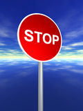 Stop sign for traffic Royalty Free Stock Photos