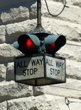 All Way Stop Royalty Free Stock Photography