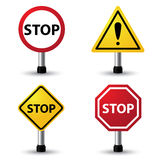 Stop sign. Vector illustration of stop sign Stock Photography