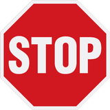Stop sign. Vector illustration of the stop sign Royalty Free Stock Images