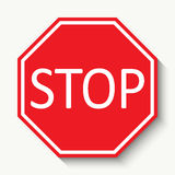 Stop sign. Vector illustration. Royalty Free Stock Photos
