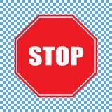 Stop sign vector. Vector illustration on transparent background royalty free illustration