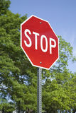 Stop Sign in a Vertical Format Royalty Free Stock Photo