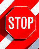 Stop sign on a wall. Royalty Free Stock Photography