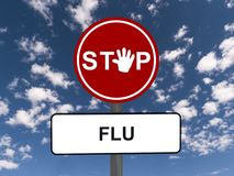 Stop sign warning flu Royalty Free Stock Image