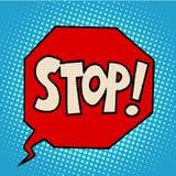 Stop sign warning symbol Royalty Free Stock Images