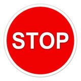 Stop sign on white Royalty Free Stock Photo