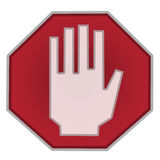 Stop sign on white background no text Stock Image
