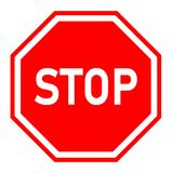 Stop sign on white background. red stop symbol. Traffic regulatory warning stop symbol Royalty Free Stock Photography