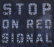 Stop On Signal Royalty Free Stock Images