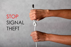 Stop signal theft Royalty Free Stock Photo