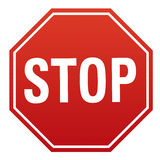 Stop signboard Stock Photos
