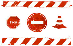 Stop signs Royalty Free Stock Image