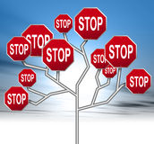Stop signs Stock Photo