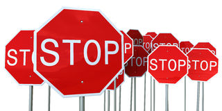 Stop signs Royalty Free Stock Images