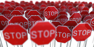 Stop signs Stock Image