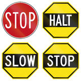 Stop Signs In Australia Stock Image