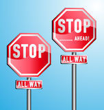 Stop Signs Set. Customizable Stop signs - set of 2 Stock Images