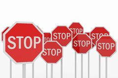 Stop sings. Royalty Free Stock Images