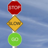 Stop Slow Go Stock Photo