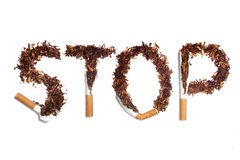 Stop smoke Royalty Free Stock Image