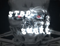Stop smoke. Abstract background poster Royalty Free Stock Photography