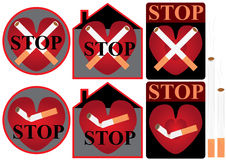 Stop Smoke_eps Stock Photo