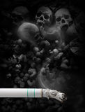 Stop smoking. On skull background Stock Images