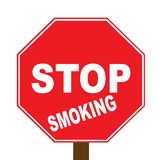Stop Smoking. A stop sign that tells people to stop smoking Royalty Free Stock Photography