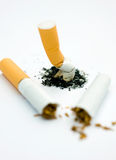 Stop smoking. Concept. Broken cigarette Stock Photos