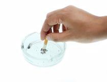 Stop smoking. Hand man with stop smoking Royalty Free Stock Image