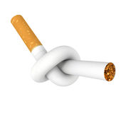 Stop smoking. Cigarette tied to a knot. Computer generated image Stock Image