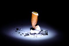 Stop smoking. Broken cigarete - stop smoking Royalty Free Stock Photo