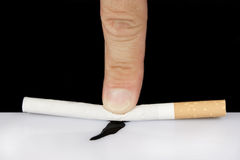Stop smoking. Fight against smoking and its consequences Royalty Free Stock Images