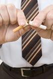Stop smoking. The trend towards the non-smoker increases Stock Image