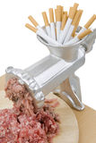 Stop smoking. A funny presentation to give up smoking Royalty Free Stock Photo