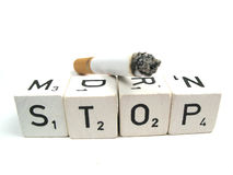Stop with smoking Stock Images