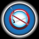 Stop smoking. Abstract colorful illustration with stop smoking symbol Stock Photography