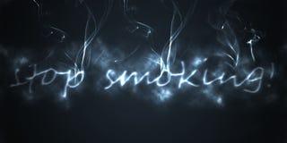 Stop smoking. Illustration of the stop smoking with smoke black Stock Images