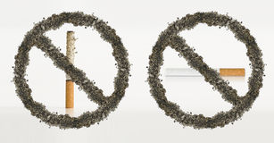 Stop smoking ashes concept Stock Photo
