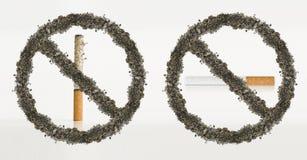 Stop smoking ashes concept.  Stock Photo