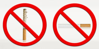 Stop smoking ashes concept Royalty Free Stock Photography