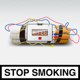 Stop smoking - cigarette bomb Royalty Free Stock Photos