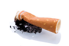 Stop smoking cigarettes isolated Royalty Free Stock Photos