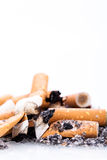 Stop smoking cigarettes isolated Stock Images