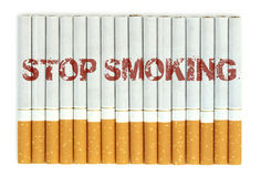 Stop smoking, cigarettes isolated on white background Royalty Free Stock Image